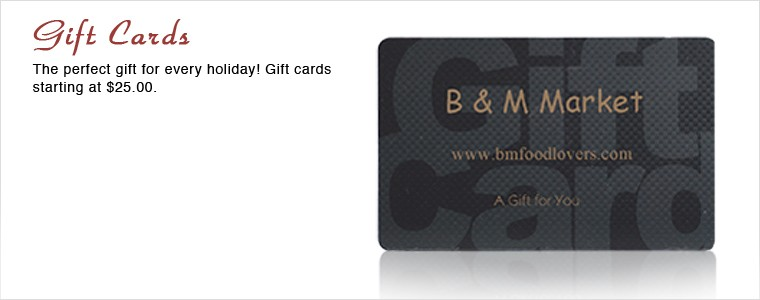 Gift cards bm market of bergen county nj join our mailing list reheart Choice Image